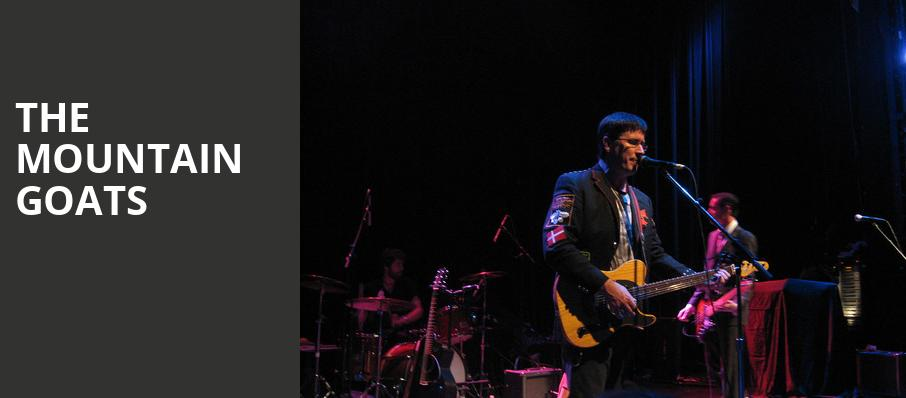 The Mountain Goats, Bing Crosby Theater, Spokane